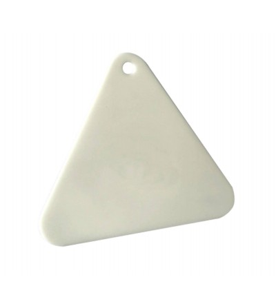 Espátula trianguar de plástico