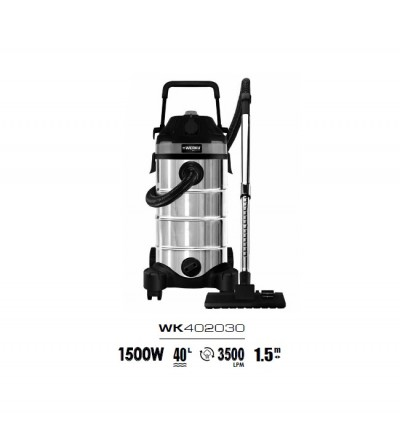 Werku aspirador 1500w 40L WK402030